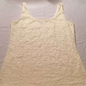 White House Black Market lace tank size small